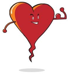 Strong heart cartoon vector