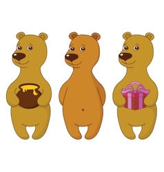 Teddy bears set vector image