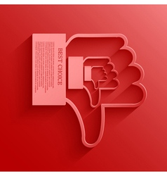 Thumb down background vector