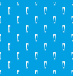 toothpaste tube pattern seamless blue vector image