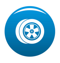 transport icon blue vector image
