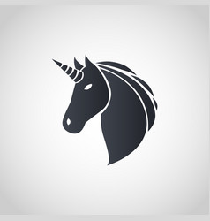 unicorn logo icon design vector image