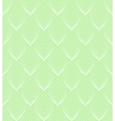 White line leaves seamless pattern on green vector