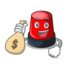 with money bag sirine character cartoon style vector image