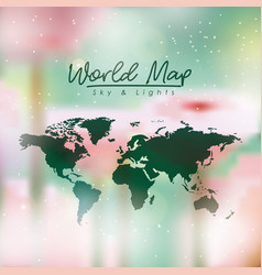 World map in green color and multicolor opacity vector