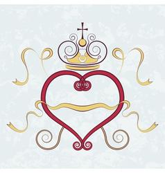Calligraphic heart vector image vector image
