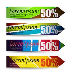 discount banners vector image
