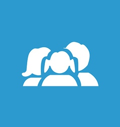 family icon white on the blue background vector image