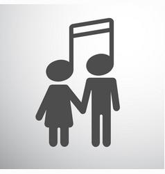 musical couple boy and girl vector image
