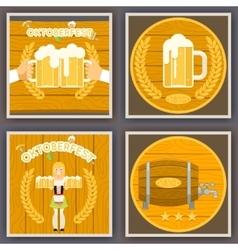 Oktoberfest Poster Set Festival Celebration Symbol vector image vector image