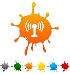 Radio blot vector image