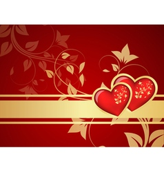 red valentine background vector image