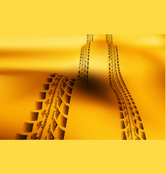 tire tracks on sand background vector image