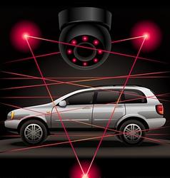 Car security vector image vector image