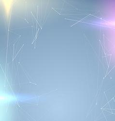 Futuristic connection molecule background - ray vector