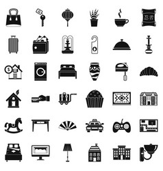 house icons set simple style vector image vector image