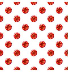 red sweet lollipop candie pattern vector image