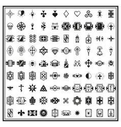 russian criminal finger tattoos vector image vector image