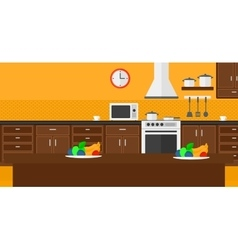 Background of kitchen with appliances vector image