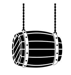 black wooden barrel icon image design vector image