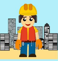builder man vector image