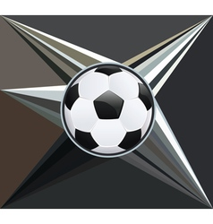 Soccer Ball on Rays Background vector image