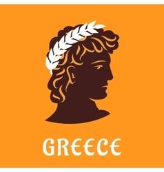 Ancient greek athlete in winner olive wreath vector image vector image