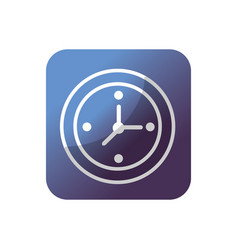 button wall clock to know hours time vector image vector image