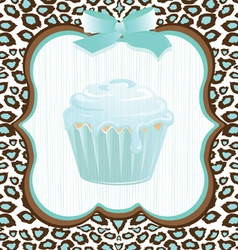 cupcake birthday invitation vector image