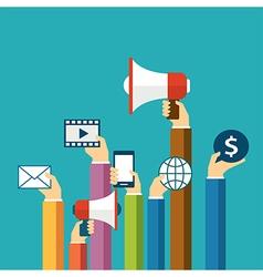 digital marketing concept flat design vector image