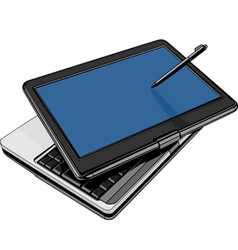 modern laptop with rotating touch screen vector image vector image