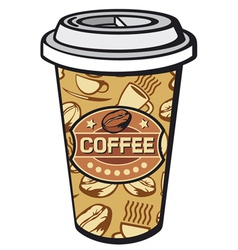 Paper cup of coffee vector