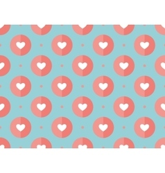 Seamless pattern of hearts on a turquoise vector image vector image
