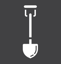 shovel glyph icon build and agricultural vector image