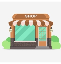 Street shop small store front vector image