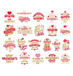 Valentine designs set vector image