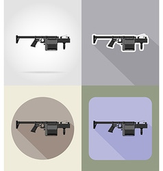 weapon flat icons 11 vector image