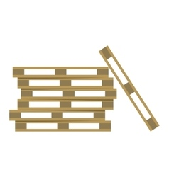 Wooden warehouse shelves vector image