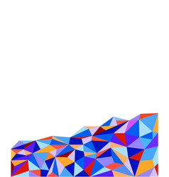 abstract multicolored polygonal background vector image