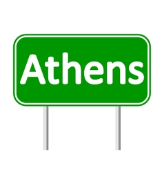 Athens road sign vector