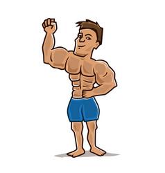 Attractive bodybuilder vector