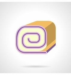 Biscuit roll flat color icon vector image