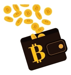 bitcoin currency design vector image