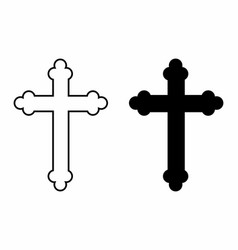 black and white crosses vector image