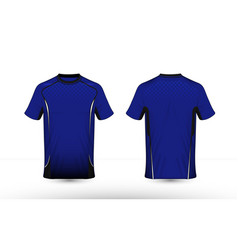 blue white and black layout e-sport t-shirt vector image