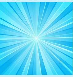 blue white ray background vector image