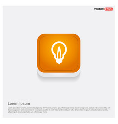 bulb icon orange abstract web button vector image