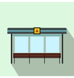 Bus station icon flat style vector