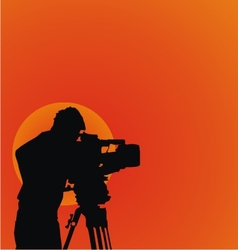 Cameraman Silhouettes vector image