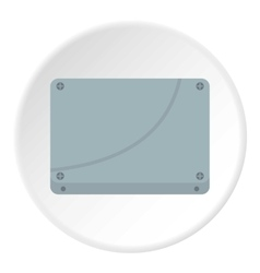Case computer icon flat style vector